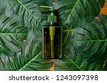 natural cosmetics bottle...   Shutterstock . vector #1243097398