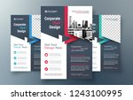corporate flyer design template ... | Shutterstock .eps vector #1243100995