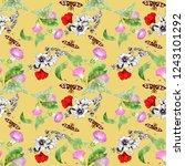 watercolor seamless pattern... | Shutterstock . vector #1243101292