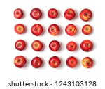 many red apples on white... | Shutterstock . vector #1243103128