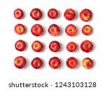 many red apples on white... | Shutterstock . vector #1243103128