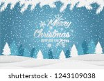 christmas and new year... | Shutterstock . vector #1243109038