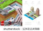 isometric city metro concept...   Shutterstock .eps vector #1243114588
