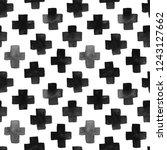 hand drawn seamless pattern. | Shutterstock . vector #1243127662