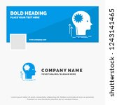 blue business logo template for ... | Shutterstock .eps vector #1243141465