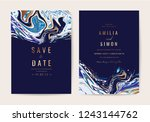 wedding invitation cards with... | Shutterstock .eps vector #1243144762