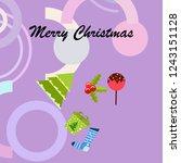 christmas card  candy fir gift...   Shutterstock .eps vector #1243151128
