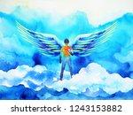 human angel wing mind heaven... | Shutterstock . vector #1243153882