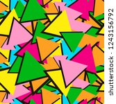 colorful seamless pattern from... | Shutterstock .eps vector #1243156792