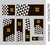 web banners set with triangles. ... | Shutterstock .eps vector #1243156795