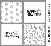 new year and christmas holidays ... | Shutterstock .eps vector #1243156798