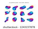 gradient vivid shapes. modern... | Shutterstock .eps vector #1243157878