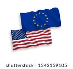 european union and american... | Shutterstock .eps vector #1243159105