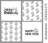new year and christmas holidays ... | Shutterstock .eps vector #1243161172
