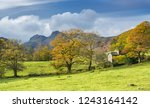 autumn lake district... | Shutterstock . vector #1243164142