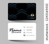 modern business card design.... | Shutterstock .eps vector #1243165432
