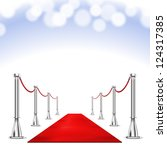 vector red carpet isolated on... | Shutterstock .eps vector #124317385