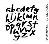 alphabet letters.black... | Shutterstock .eps vector #1243209202