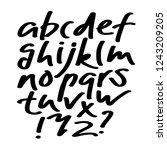 alphabet letters.black...   Shutterstock .eps vector #1243209205