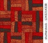 seamless grunge pattern in... | Shutterstock .eps vector #1243214338