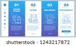 design studio onboarding mobile ... | Shutterstock .eps vector #1243217872
