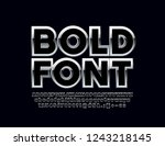 stylish silver bold font.... | Shutterstock .eps vector #1243218145