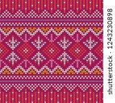 christmas knitting seamless... | Shutterstock .eps vector #1243230898