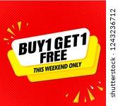 buy get free sale banner... | Shutterstock .eps vector #1243236712