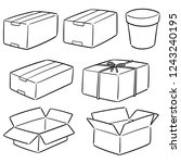 vector set of boxes | Shutterstock .eps vector #1243240195