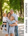 happy family with two kids... | Shutterstock . vector #1243240762