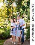 happy family with two kids... | Shutterstock . vector #1243240768
