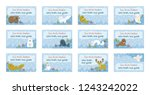 collection of nametags template.... | Shutterstock .eps vector #1243242022