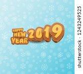 2019 happy new year creative...   Shutterstock .eps vector #1243249525