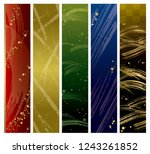 japanese colorful texture set   Shutterstock . vector #1243261852