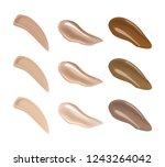 liquid fluid make up foundation ... | Shutterstock .eps vector #1243264042