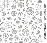 seamless pattern with flowers.... | Shutterstock .eps vector #1243267105
