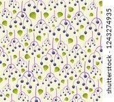 purple elder berries and green... | Shutterstock .eps vector #1243274935