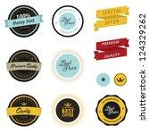 set of vintage sale labels ... | Shutterstock . vector #124329262
