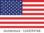 american flag. vector image of... | Shutterstock .eps vector #1243294768