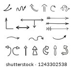 hand drawn infographic elements ...   Shutterstock .eps vector #1243302538