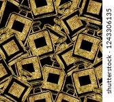 seamless pattern of gold... | Shutterstock . vector #1243306135
