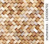 Wicker Rattan Seamless Texture...