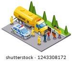 toxic waste disposal danger... | Shutterstock .eps vector #1243308172
