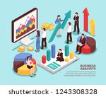 business analyst concept with... | Shutterstock .eps vector #1243308328