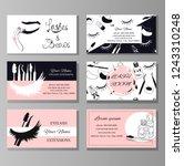 branding for salon eyelash...   Shutterstock .eps vector #1243310248
