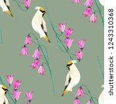 bellflowers with birds... | Shutterstock . vector #1243310368