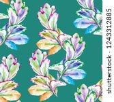 botanical succulents watercolor ... | Shutterstock . vector #1243312885