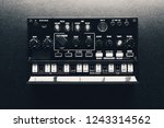 black analog synthesizer  close ... | Shutterstock . vector #1243314562
