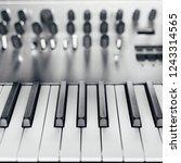 metallic analog synthesizer ... | Shutterstock . vector #1243314565
