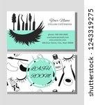business card  for eyelash...   Shutterstock .eps vector #1243319275